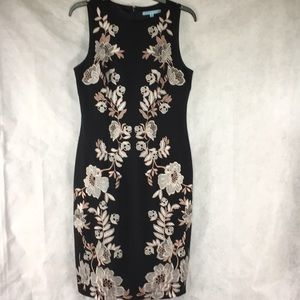 Antonio Melani black  embroidered dress size 6